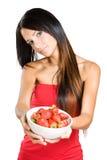 新秀丽提供的草莓。 免版税库存图片