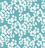 新简单的最小的花卉传染媒介无缝的样式 春天blos 皇族释放例证