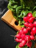 新红色wached立即可食萝卜的根,健康菜 库存图片