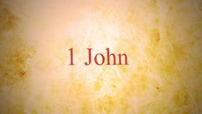 新约- 1约翰的书在圣经系列的 股票视频