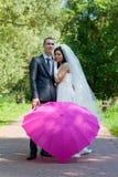 新结婚的夫妇 免版税库存图片