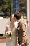 新结婚的夫妇 免版税库存照片