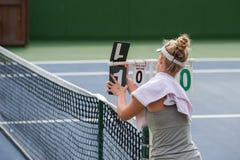 更新网球比分 免版税图库摄影