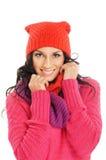 新美丽的女孩纵向冬天样式的 图库摄影