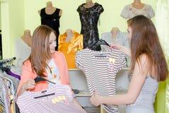 新美丽的界面购物的妇女 库存图片