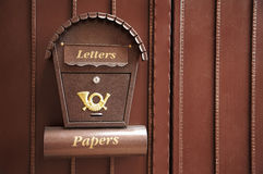 新美好的配件箱的邮件 免版税库存图片