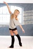 新舞蹈演员实践 库存照片