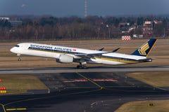 新航空中客车A350 图库摄影