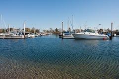 新英国的海滨广场 免版税库存图片