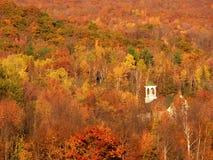新英国的秋天 库存图片