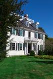 新英格兰历史的豪宅 库存照片