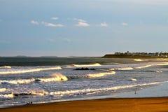 新英格兰海浪 免版税库存图片