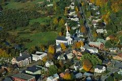 新英格兰的鸟瞰图 免版税图库摄影