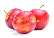 新苹果白色背景 免版税库存照片