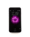 新苹果计算机iPhone 6前方 库存照片