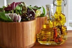 新蔬菜沙拉混合 免版税库存照片