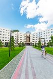 新西伯利亚州立大学,新的大厦 编译的街市现代新西伯利亚俄国 库存照片