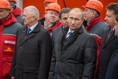 新西伯利亚,俄罗斯- 2014年10月8日:弗拉基米尔弗拉基米洛维奇Pu 免版税图库摄影