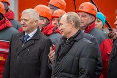 新西伯利亚,俄罗斯- 2014年10月8日:弗拉基米尔弗拉基米洛维奇Pu 免版税库存照片