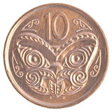 10新西兰分硬币 库存照片