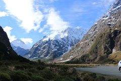 新西兰多山风景 库存照片