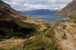新西兰山湖 免版税库存图片
