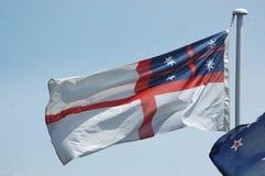 新西兰殖民地居民旗子 免版税库存图片