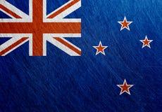 新西兰波里尼西亚旗子金属葡萄酒 免版税库存图片