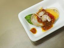 新西兰淡菜沙拉 库存图片