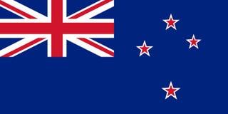 新西兰的国旗 与旗子ofNew西兰的背景 库存例证