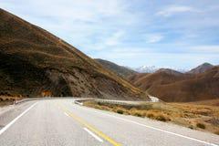 新西兰的弯曲的路 免版税库存照片