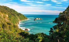 新西兰的热带海滩 免版税库存照片