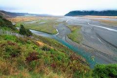 新西兰的编辫子的河 免版税图库摄影
