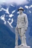 新西兰的雕象登上了步枪旅团战士 库存照片