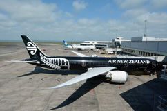 新西兰航空公司飞机 免版税库存照片