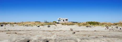 新西兰野营的Campervan 免版税库存照片