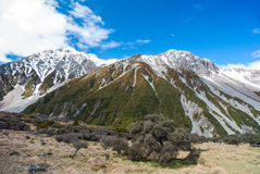 新西兰风景山 库存图片