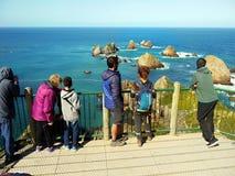 新西兰, Catlins海岸,矿块点 库存照片