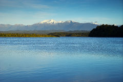 新西兰, Okarito盐水湖视图 免版税库存图片