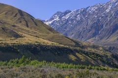 新西兰2014年4月16日;顶视图南岛,新西兰 库存照片