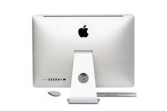 新计算机桌面的imac 库存图片