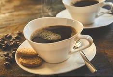 新近地倒的杯子浓咖啡咖啡 库存图片