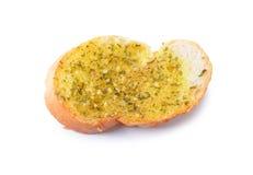 新近地敬酒的蒜味面包 免版税库存图片