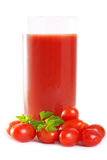 新近地被混和的番茄汁 免版税图库摄影