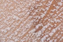 新近地被锯的木头纤维的特写镜头对角样式被盖的  免版税库存照片