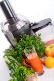 新近地被紧压的蔬菜汁 库存图片