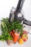 新近地被紧压的蔬菜汁 免版税库存照片