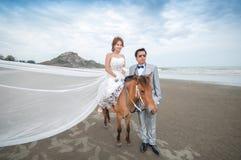新郎和新娘容忍 库存图片