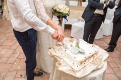 新郎和新娘 免版税图库摄影