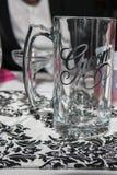 新郎的杯子 图库摄影